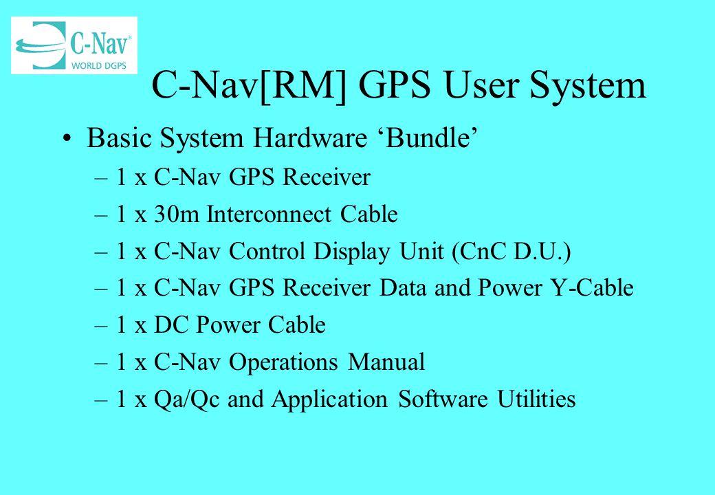 C-Nav[RM] GPS User System